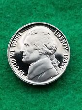 1988 s- Jefferson nickel Uncirculated/cameo  -proof-**free ship**