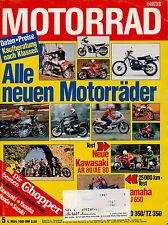 Motorrad 5 81 1981 Kawasaki AE AR 80 Kreidler Yamaha XT 500 Honda CB 750 L RD350