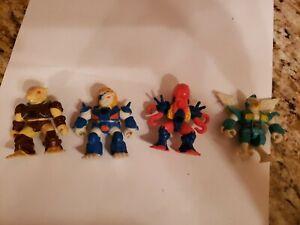 Lot of 4 Vintage Hasbro Takara Battle Beasts Action Figures 1986,87