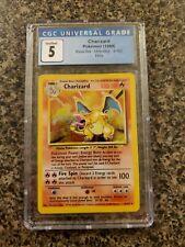 Charizard Pokémon Base Set Unlimited - 4/102 - CGC 5