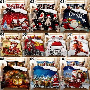 Santa Claus Christmas Single Double King Super King Bed Duvet Quilt Cover Set