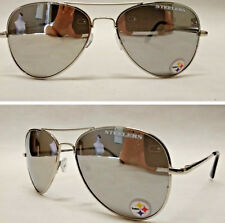 Read Listing! Pittsburgh Steelers XLGE 3D logo on mirrored Aviator Sunglasses.