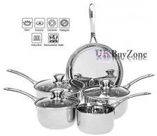 Sets de casseroles et poêles en acier pour la cuisine