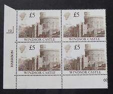 GB STAMPS: CASTLE DECIMAL HV 1988 ISSUE :: £5 CYL BLOCK 1D :: SG1413 :: MNH
