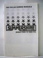 ANN-MARGRET Playbill DALLAS SUMMER MUSICALS 1982