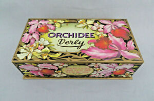 Vintage 1970's VERLY Germany Orchidee Soap Box ONLY ~ Advertising ~ Empty