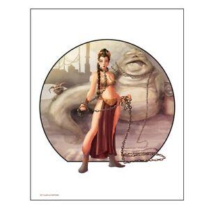 "Star Wars Limited Edition Art Print 20""×16"" ""Imprisoned"" Slave Leia ROTJ"