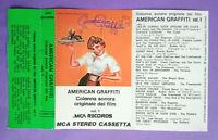 COPERTINA INLAY MC Musicassetta AMERICAN GRAFFITI Colonna Sonora Vol.1 no lp cd