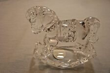 """Princess House Rocking Horse Paperweight-Crystal-About 2 3/4""""Tall-3 1/8""""Long"""