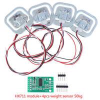 4x Personal 50Kg Half-bridge Strain Weight Sensor + HX711 AD Amplifier Module_lk