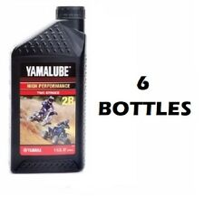 6 Bottles Yamalube 2R 2 Stroke Racing Oil 32oz 2-R quart 6 quarts YZ RM CR KX