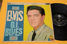 ELVIS PRESLEY LP G.I. BLUES 1°ST ORIG UK 1960 MONO ! RCA DEEP GROVE FLIPBACK