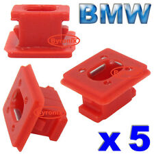 BMW E46 3 E65 E66 7 Series X3 E85 RED DASH TRIM INSERTS CLIPS GROMMETS INTERIOR