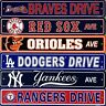 "MLB Baseball Street Sign Ave Drive 4' x 24"" - Pick Team"