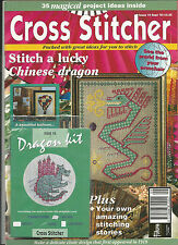 CROSS STITCHER MAGAZINE EARLY ISSUE 10, CHINESE DRAGON KIT.TEDDY , BALLOON,
