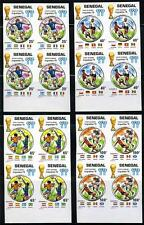 SENEGAL 1978 ARGENTINA WORLD CUP SOCCER IMPERF BLOCKS OF 4 MNH AS SHOWN