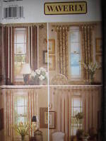 Vintage Butterick SEWING Pattern CRAFT 4277 Waverly Window Panels Drapes Curtain