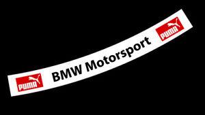 BMW Motorsport DTM Touring Car Helmet Visor Sticker Bell Arai Motorsport Karting