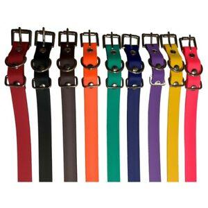 "E-Collar 3/4"" Biothane Dog Collar Replacement Strap - 9 Colors"