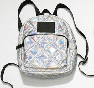 New Victoria's Secret PINK MINI Backpack Quilted Iridescent Bling Great Gift