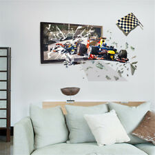 3D Sports F1 Cars Room Home Decor Removable Wall Sticker Decal Decoration