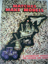 Vintage Aust MATCHES MAKE MODELS (FOR CHILDREN & ADULTS) Crafts Hobbies book