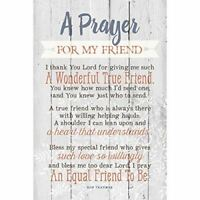 NEW Dexsa Prayer For My Friend New Horizons Wood Plaque with Easel DX8719