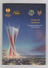 Orig.PRG   Europa League  12/13   HANNOVER 96 - LEVANTE UD  !!  SELTEN