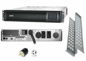 APC SMT3000RMT2U Smart-UPS 3000VA 2700W 208V 2U RACK Power BAckup L6-20P REF