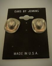 Cowboy hat post earrings with surgical steel post