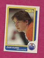 1986-87 OPC # 108 OILERS JARI KURRI NRMT-MT CARD (INV#6278)