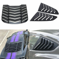 Rear Window Louver Quarter Side Scoop Louvers For Ford Mustang 2015 2016 2017 18