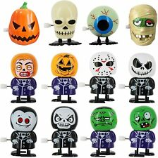 Wind Up Toy Assorted Halloween 12 Pc Pumpkin Vampire Skeleton Zombie Party Favor