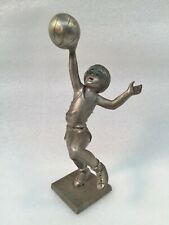 "Heritage Pewter ""Basketball Shot"" Pewter Figurine Signed by Artist LAMB"