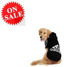 Dog Fleece Sweater Large Black Adidog Warm Pets Hoodie Jumpsuit Apparel Coats