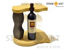 PORTAVINO da tavolo lavorazione artigianale in pietra naturale