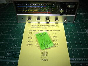 Realistic DX-120 Electrolytic Capacitor rE-Cap Kit - Premium + 6 Transistors