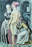BERTHOMME SAINT-ANDRE :  La toilette - EAU FORTE érotique, 1931, 346 exemplaires