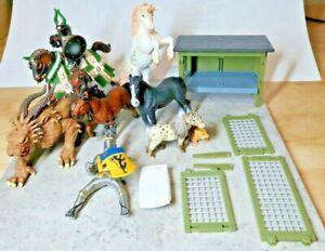 - SCHLEICH Animals, Knights, and accessories LOT