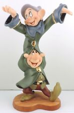 """DANCING PARTNERS - DOPEY & SNEEZY"" WDCC Snow White & Seven Dwarves"