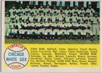 1958 Topps #256 White Sox Team EX-EX+ Marked Larry Doby Nellie Fox FREE SHIPPING