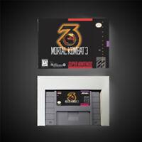 Mortal Kombat 3 USA NTSC Version With Retail Box Action Game Super SNES Freeship