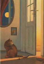 Kunstkarte / Postcard Art - Quint Buchholz: Cats / Door