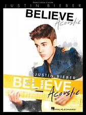 Justin Bieber Believe Acoustic Sheet Music Piano Vocal Guitar Book 000119256
