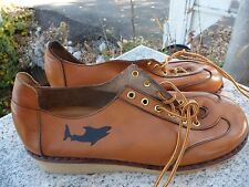 Vintage 1970's Wildcats Chunky Platform Shoes Women's Size 6.5 Tan Leather