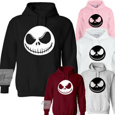 JACK FACE HALLOWEEN JACK SKELLINGTON NIGHTMARE BEFORE CHRISTMAS UNISEX HOODIES