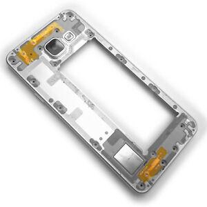 Genuine Samsung Galaxy A3 metal side housing bezel+rear camera glass White A310