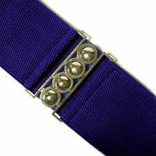 Royal Blue Elasticated Wide Waist Clinch Belt - 80's Dress Fashion