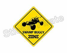 """*Aluminum* Swamp Buggy Zone Funny Metal Novelty Sign 12""""x12"""""""