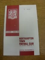 20/01/1968 Northampton Town v Swindon Town  (Small Nicks).  Any faults with this
